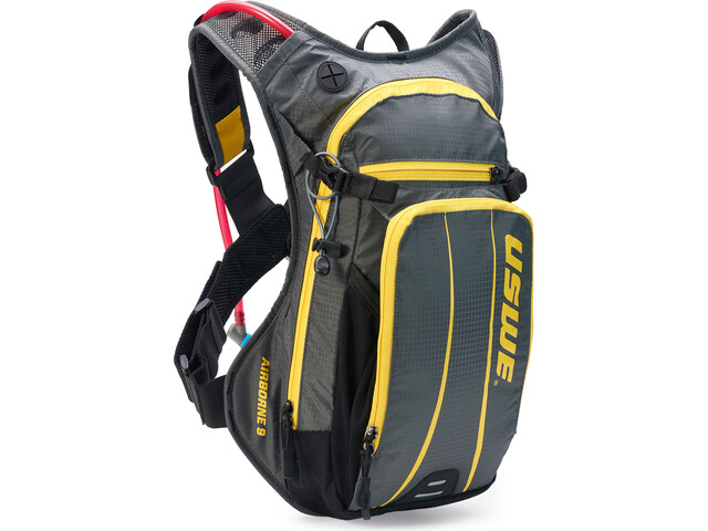 USWE Airborne 9 Hydration Backpack, grey/yellow